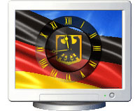 NFS Germany Flag Clock Screensaver 1.1