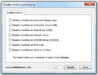 Disable Autorun/Autoplay 1.0