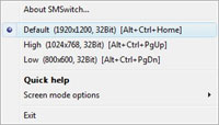 Screen Mode Switch 2.1.1.1