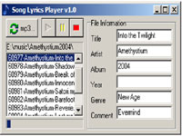 Song Lyrics Player 1.0