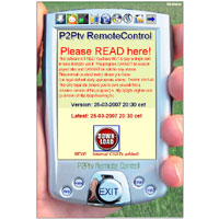 P2Ptv Remote Control 2.1