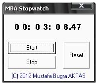 MBA Stopwatch 1.0