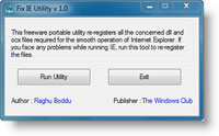 Fix IE Utility 1.0