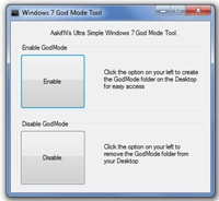 Windows 7 God Mode Tool 2.1