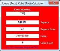 Square (Root) Cube (Root) Calculator 1.0