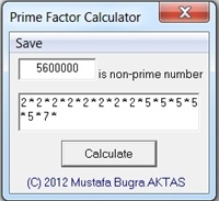 Prime Factor Calculator 1.0.0