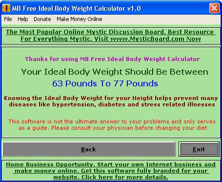 MB Ideal Body Weight Calculator 1.25