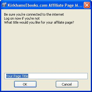 Free Affiliate Package for Affiliate Pag 1.6