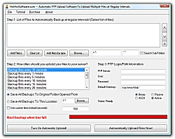 Automatic FTP Upload Software To Upload Multiple Files at Regula