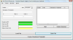 Checkbook Register Ledger in Excel to balance your checkbook 9.0