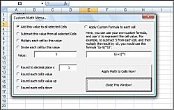 Excel Math to multiple cells with formulas, adding, subtracting,