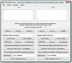 List manager Remove, List Replace, List Sort, List compare and d