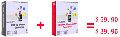 Cucusoft iPhone Video + DVD to iPhone Suite pro 7.03
