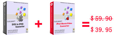 Cucusoft iPod Video Converter + DVD to iPod Suite 8.3.3