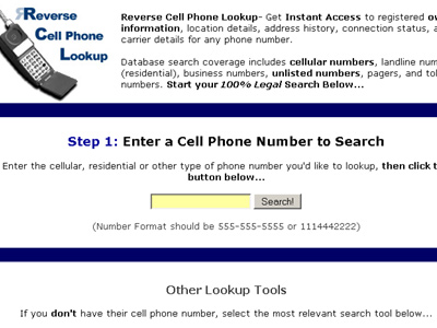 Free reverse number lookup search