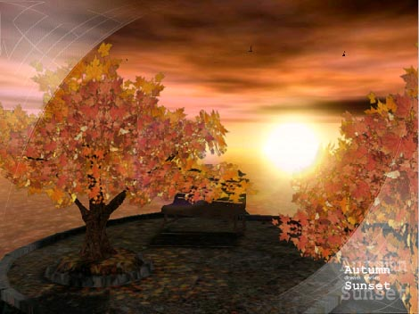 Wallpaper on Ad Autumn Sunset   Animated 3d Wallpaper 3 1 Free Download For Windows