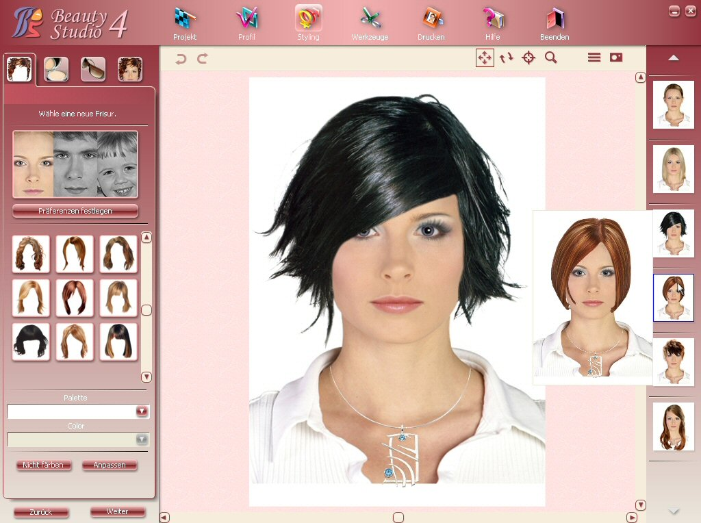 virtual hairstyle makeover : Hair And Makeup Virtual Makeover Online Upload Photo ...