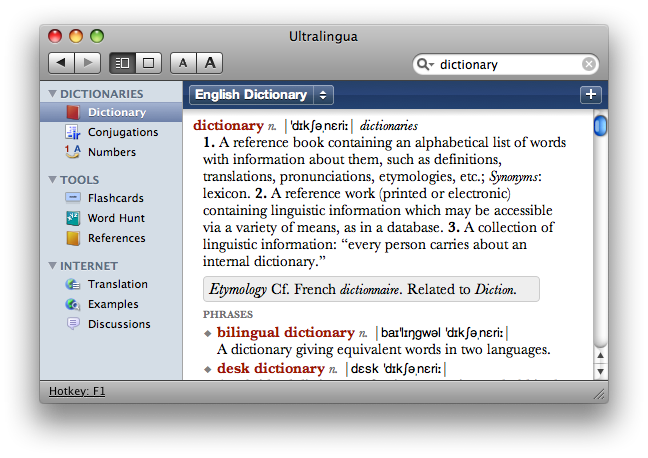 German-Italian Dictionary For Mac