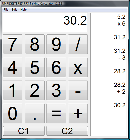 FRS Talking Calculator 1 6 free download for Windows 8