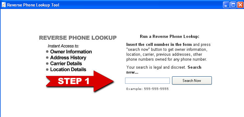 Reverse cell phone number trace